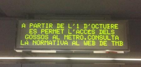 Pantalla informativa metro